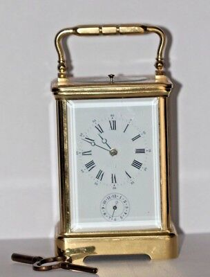 Superb Vintage L'epee French Grande Corniche 8 Day Repeater Alarm Carriage Clock