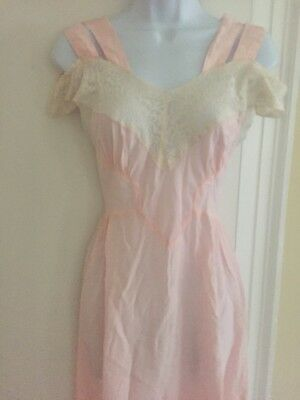 Vintage 40's SEXY Lace Nightgown Du Barry Original Small