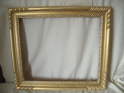 Vintage Carved Wood Antique Style Gilt Picture Frame 24x20ins Shabby Chic(H76)