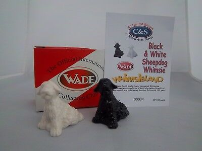 WADE BLACK & WHITE SHEEPDOG WHIMSIES l/e 100 pairs Excellent Condition