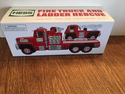 HESS Fire Truck And Ladder Rescue NIB 2015 NRFB