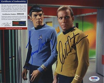 William Shatner & Leonard Nimoy Star Trek Signed  Psa/Dna Photo Z99450