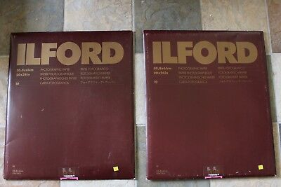 "Ilford Photographic Paper 20""x24"" Multigrade FB Warmtone 2 packages 10 piece per"