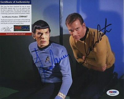 William Shatner & Leonard Nimoy Star Trek Signed  Psa/Dna Photo Z99447