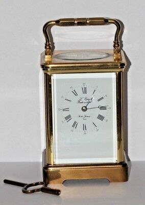 A Nice Large Vintage L'epee French Brass Carriage Clock