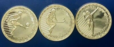 1992 Egypt 3 Silver Proof Coins Set 5 Pounds, Barcelona Games