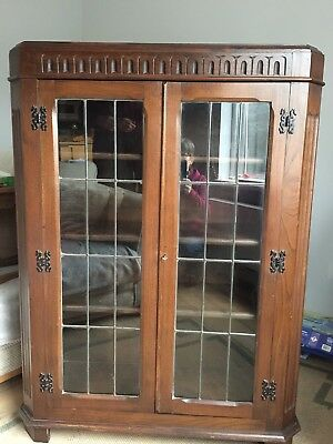 Bookcase With Leaded Light Doors