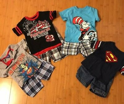 8 Piece Lot of Baby Boys Spring Summer Clothes Size 18 Months