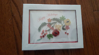 Niquea.D Quilled Florals Boxed Holiday Cards (Set of 6)