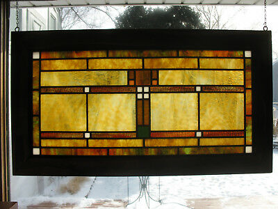 Prairie/ Craftsman Style Opalescent Stained Glass Window