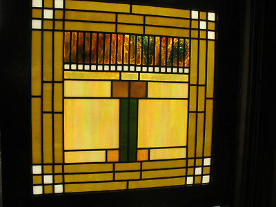 Prairie Craftsman Style Opalescent Stained Glass Window
