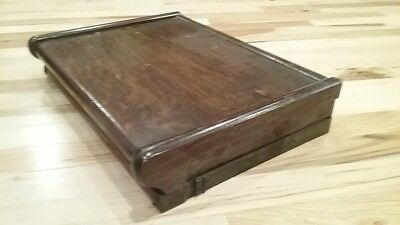 RARE half size Macey oak stacking lawyer sectional bookcase top - Globe Wernicke