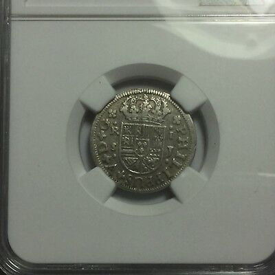 "1725S J Spain Real NGC VF30, ""Top POP"", Highest Grade!"