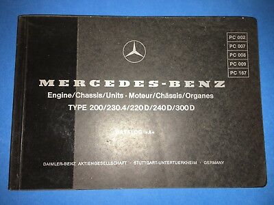 EARLY MERCEDES 450SL 450SLC 450 SL SLC Engine Chassis Parts Catalog ...