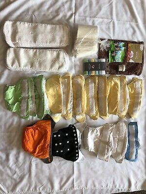 Cloth Diaper Set Lot!! 15 Cloth Diapers, Inserts, Liners, And EXTRAS!!