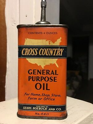 Vintage Cross Country general purpose     Lead Top handy oil can NO RESERVE!!