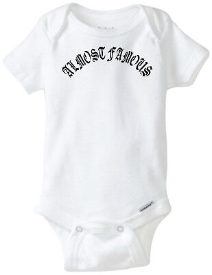 8c0866e49b11 Almost Famous Funny Baby Onesie Gerber Novelty Unisex Boy Girl Clothes  Bodysuit