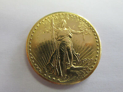 Authentic $20 Gold Coin 1927 Saint Gaudens Double Eagle USA Gold   NO RESERVE