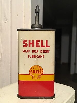 Vintage Shell Soap Box Derby Lubricant VERY RARE Lead Top handy Oiler NO RESERVE