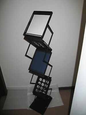 Metal Literature Rack Display Stand For Trade Show Six Pockets