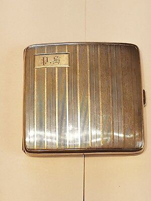 Birks sterling silver art deco cigarette case 925