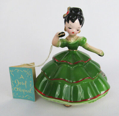 Vintage Josef Originals Mexico International Series Girl with Booklet Figurine
