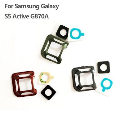 Rear Back Camera Glass Lens Cover  + Frame For Samsung Galaxy S5 Active G870A