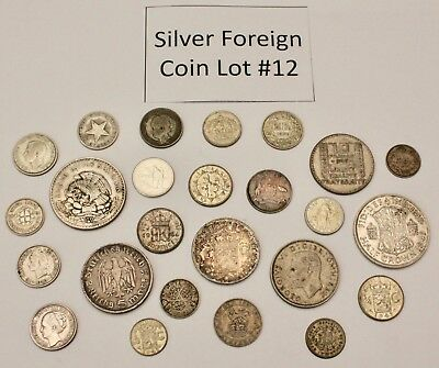 Foreign Silver Coin Lot: Collection of Old World Silver Coins #12