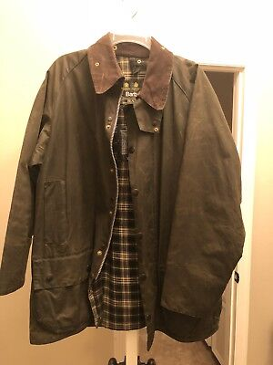 Barbour Classic Beaufort A830 Waxed Jacket 42 C42/107CM distressed ($399)