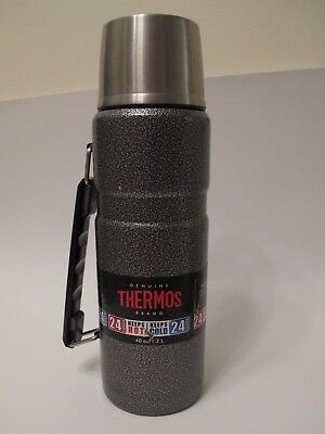 Thermos Stainless 40oz Beverage Bottle Gray Thermos Vacuum Insulated missing lid