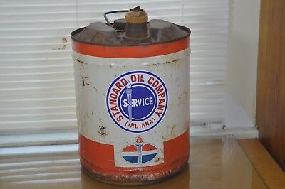 Vintage 5 Gallon Standard Oil Outboard Motor Oil Can