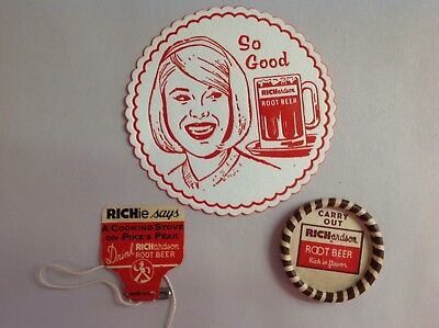 3 Different Richardson's Root Beer Vintage Advertising Pieces
