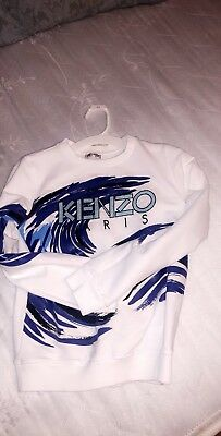 Sold Out Designer Boys Kenzo Sweater White 10 Years
