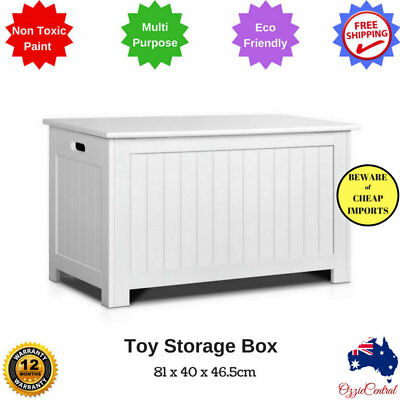 New Toy Storage Box Organiser Chest Wood Cabinet Cupboard Kids Clothes Blanket