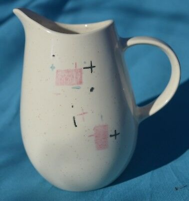 "Vintage MCM Metlox Vernon Vernonware Tickled Pink Pattern 6"" Tall Milk Pitcher"