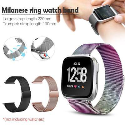 For Fitbit Versa Smart Watch Strap Milanese Loop Magnetic Stainless Steel Band