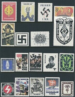 Artist Stamp Replica Poster Label Germany Hitler Bohemia Tunis Selection MNH
