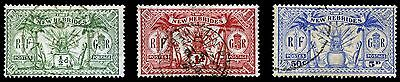 New Hebrides. British. 1911. 1/2~5d.  SC# 17, 18, 21. VF Used