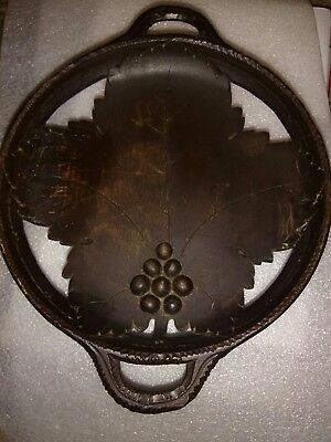 Vintage / Antique  Black Forest ? carved Musical Wooden BowlTableware