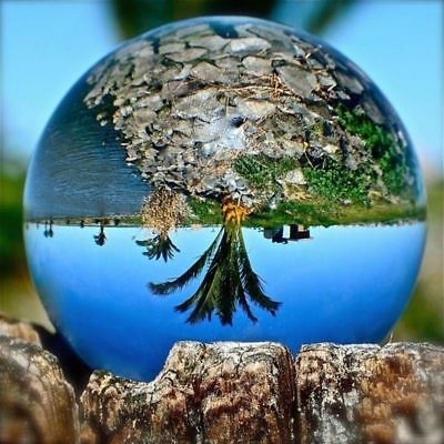 Flawless Clear Crystal Glass Ball Decoration Quality Sphere Photography UK-Stock