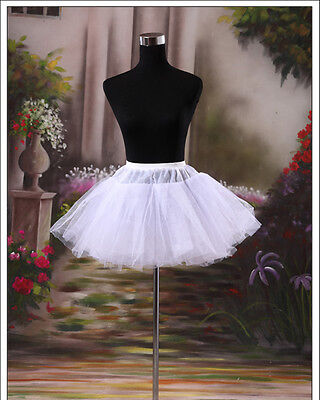 White Girls Petticoat Slip With No Hoop Short Underskirt For Ball Wedding Dress