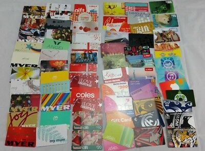 Gift Cards Bulk Lot Myer Coles Footy Teams itunes No Monetary Value Collectible