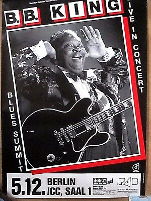 "B.b.king - Tourplakat ""live In Concert"" 5.dezember 1994 (?) Berlin,icc, Saal 1"