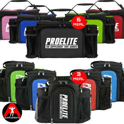 ProElite 2nd GEN- 3 or 6 Meal Food Bag with Microwaveable Container +FREE Shaker