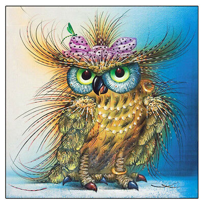 DIY Animal Owl 5D Diamond Embroidery Painting Cross Stitch Kit Craft Home Decor