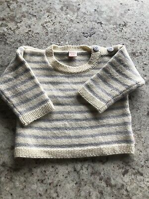 Cable Baby 100% Merino Jumper Sz 0-6mths