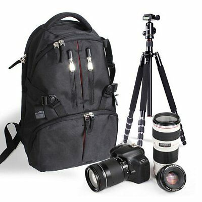 Digital Camera Backpack Bag Waterproof Black Case SLR DSLR Canon Nikon Sony CP
