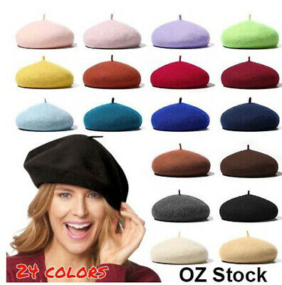 Women's Ladies Acrylic Wool French Beret Newsboy Hat Cap Winter Warm Hats Girls