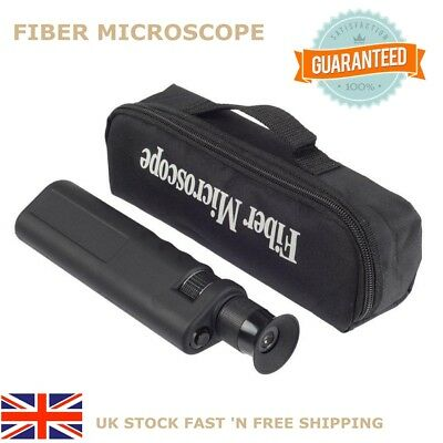 400x Fiber Optical Microscope Optical Inspection Scope 1.25/2.5mm Coaxial LED