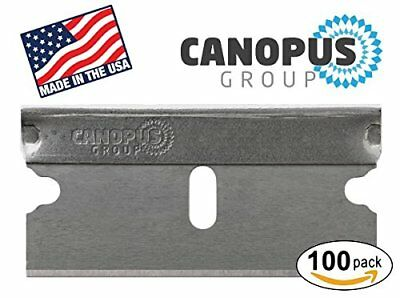 Single Edge Industrial Razor Blades By Canopus-100 Pack-Fits ALL Standard Tools